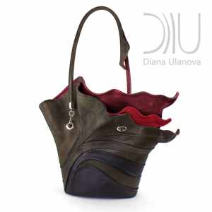 Womens Designer Hand Bags. Strelitzia Brown by Diana Ulanova. Buy on women-bags.com