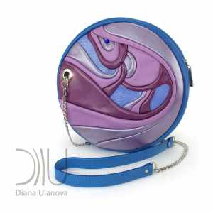 Designer Small Bags. Fugu Mini Blue/Purple by Diana Ulanova. Buy on women-bags.com