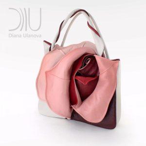 Female Designer Bags. Rosebud White/Red by Diana Ulanova. Buy on women-bags.com