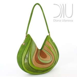 Over The Shoulder Designer Bags. Stone Green by Diana Ulanova. Buy on women-bags.com