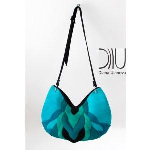 Designer Shoulder Bags. Twist Aquamarine by Diana Ulanova. Buy on women-bags.com
