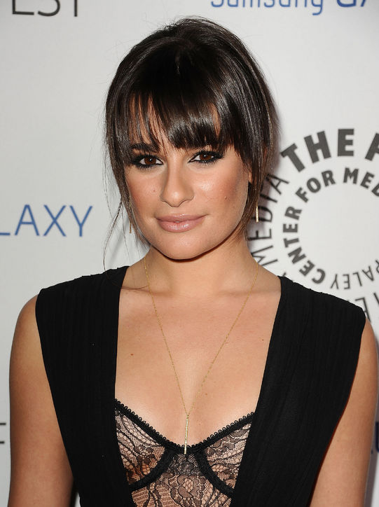 Lea Michele Bangs Hairstyle Copy Women Hairstyles