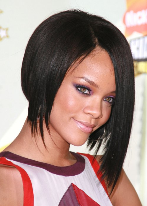 Rihanna A Line Bob Hairstylepng Women Hairstyles