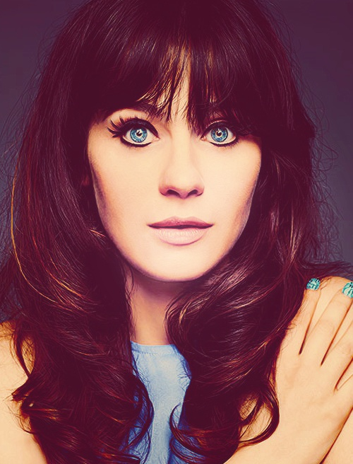 Zooey Deschanel Party Hairstyle Women Hairstyles