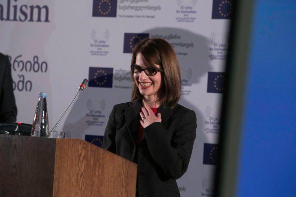 Приз за мирную журналистику получила Гванца Долуашвили