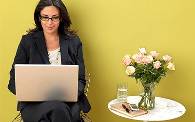 Business Women Networking Online
