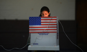 Young woman voter