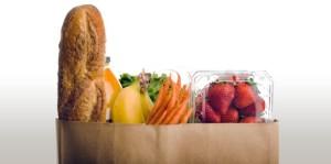 bag of groceries food