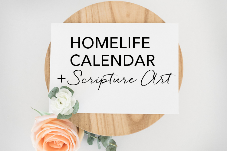Home Life Family Time Calendar and Scripture Art