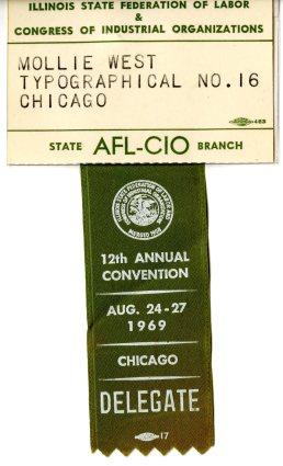 AFL-CIO convention ribbon 1969001