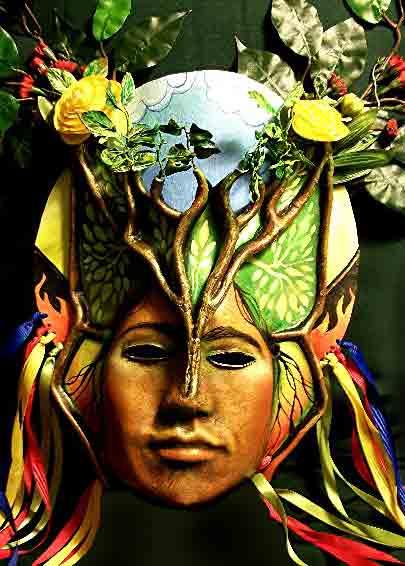Pachamama mask by Lauren Raine