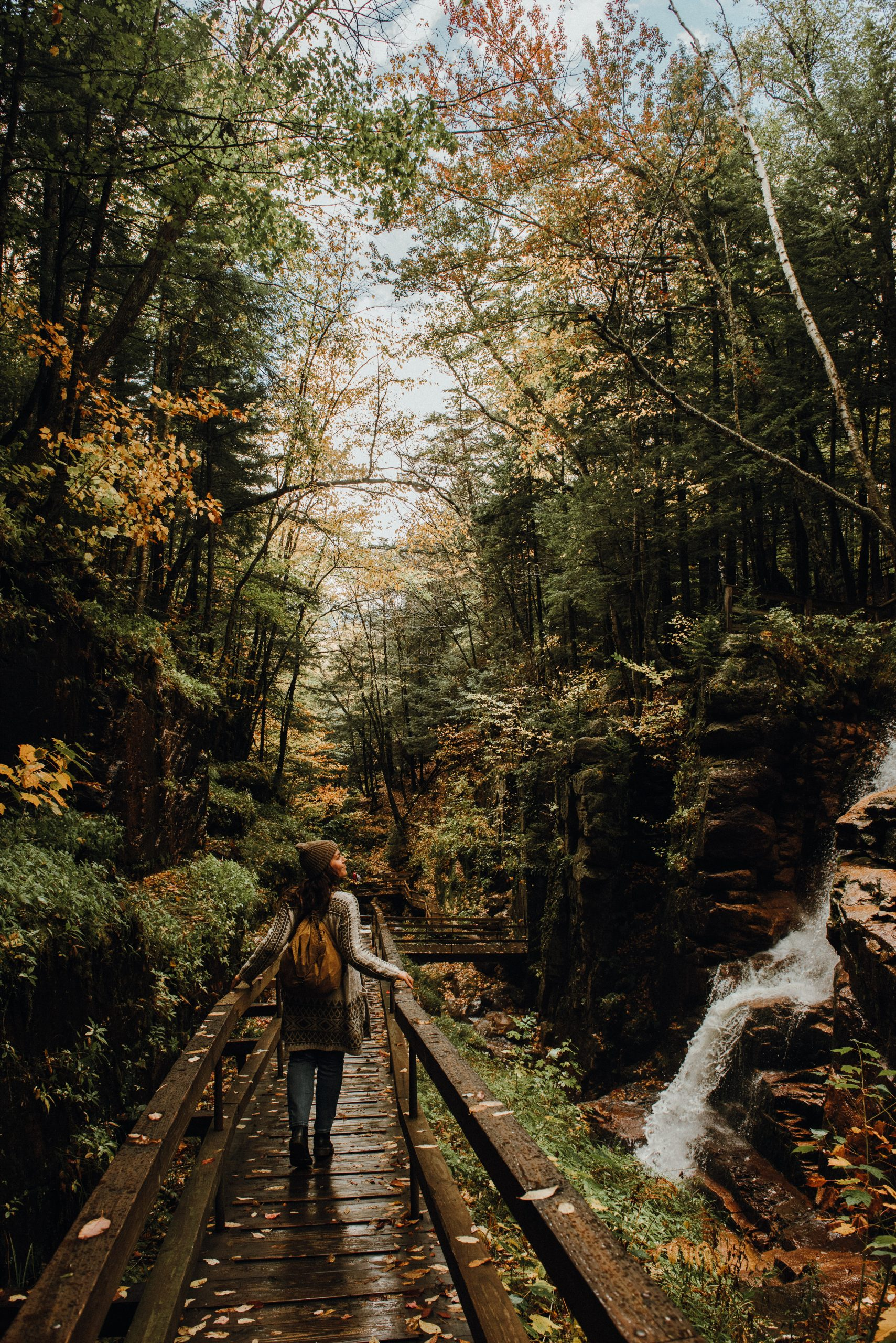 Flume Gorge in Franconia Notch New Hampshire