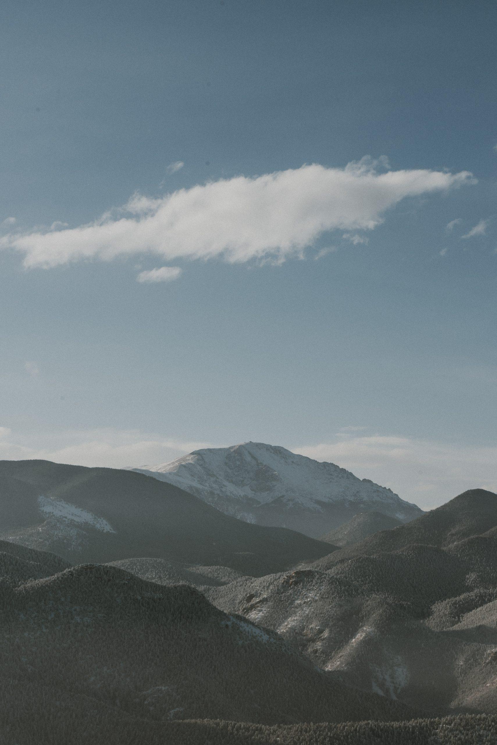 The Broadmoor cloud camp views of pikes peak