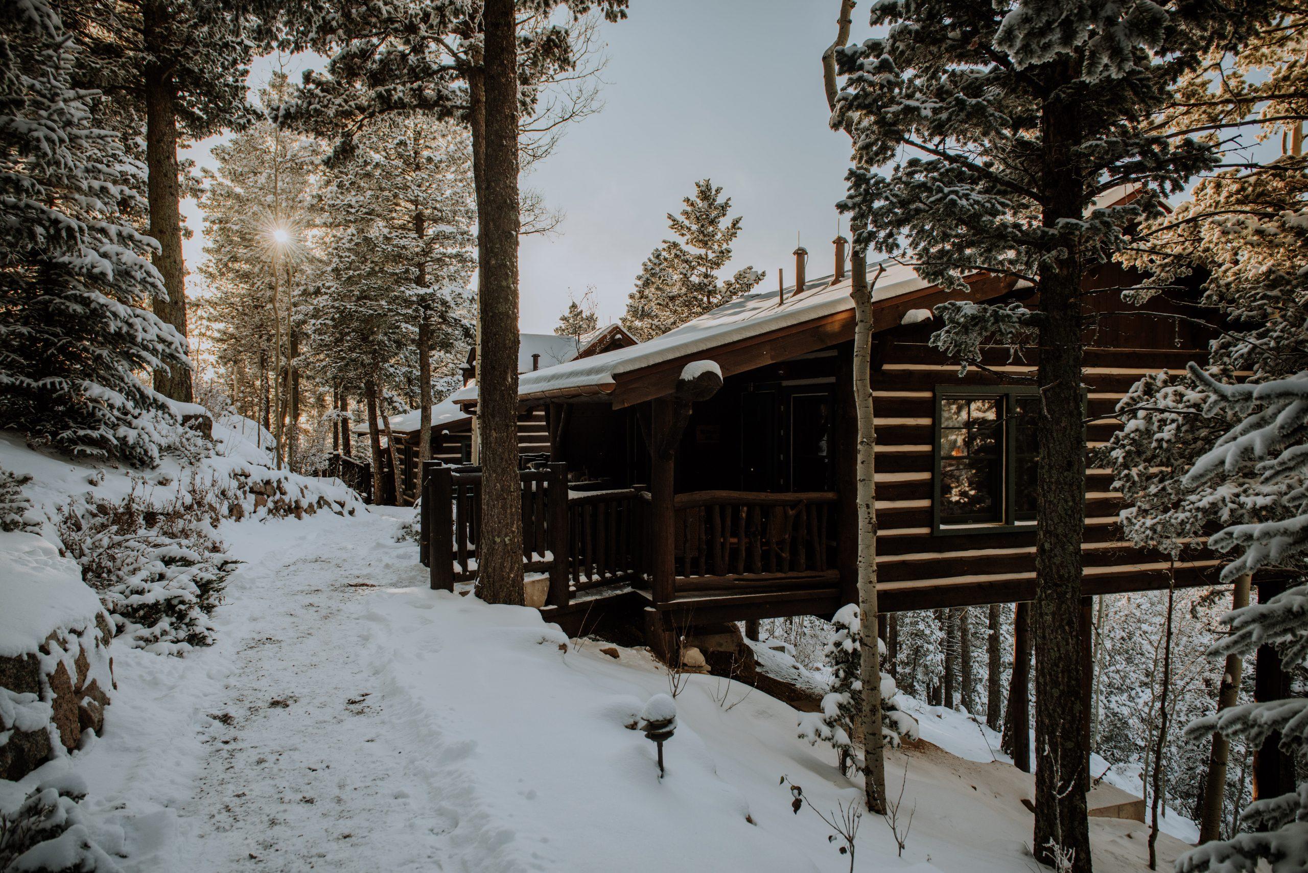 The Broadmoor cloud camp cabins