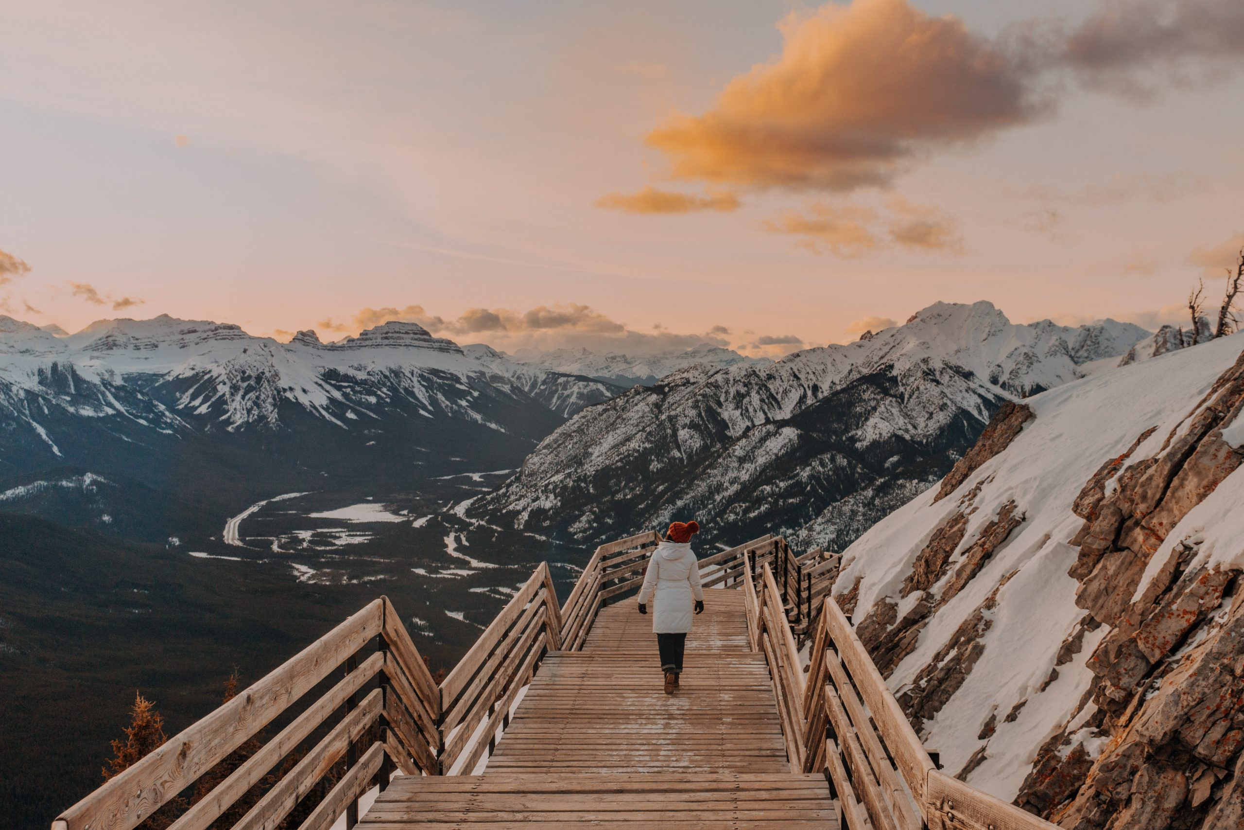 The Ultimate Banff Winter Guide- Sunset on Sulphur Mountain