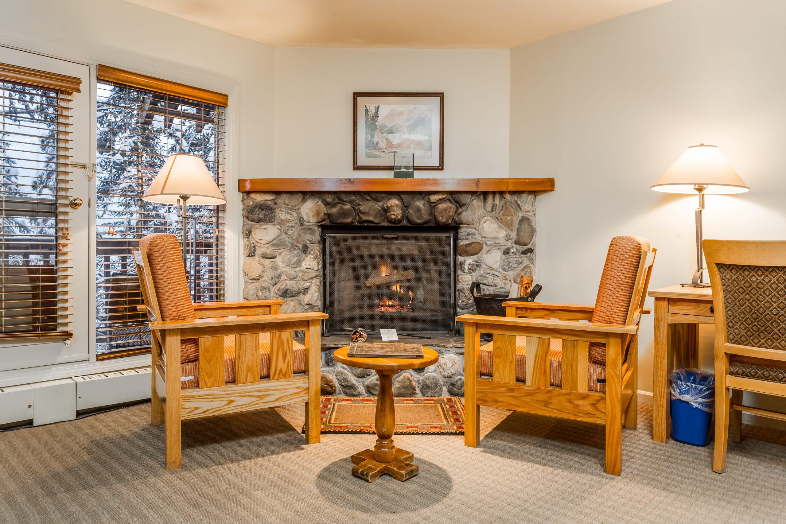 room at Emerald Lake Lodge