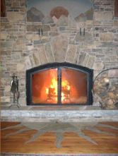 upper room fireplace