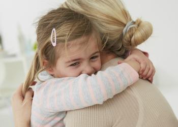 mother child hug