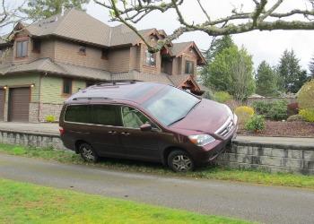 car off driveway