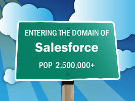 Entering Domain of Salesforce, Population over 2.5 million