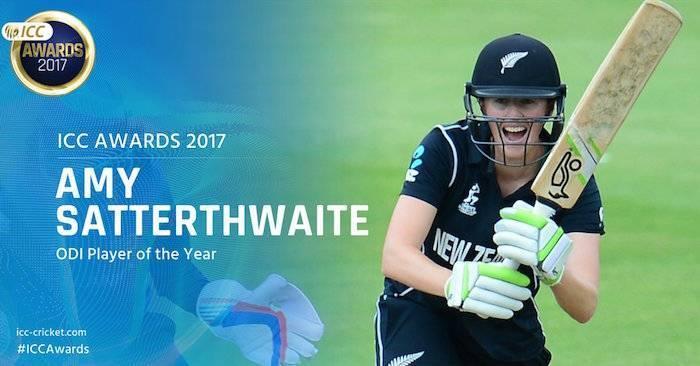 Amy Satterthwaite ICC Awards 2017