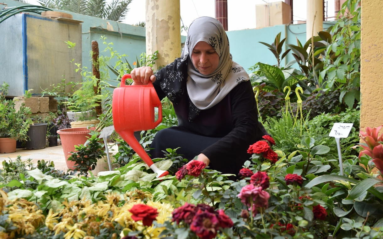 "Oxfam Helps Woman Start Jalawla, Iraq's First ""Women's Only"" Plant Nursery"