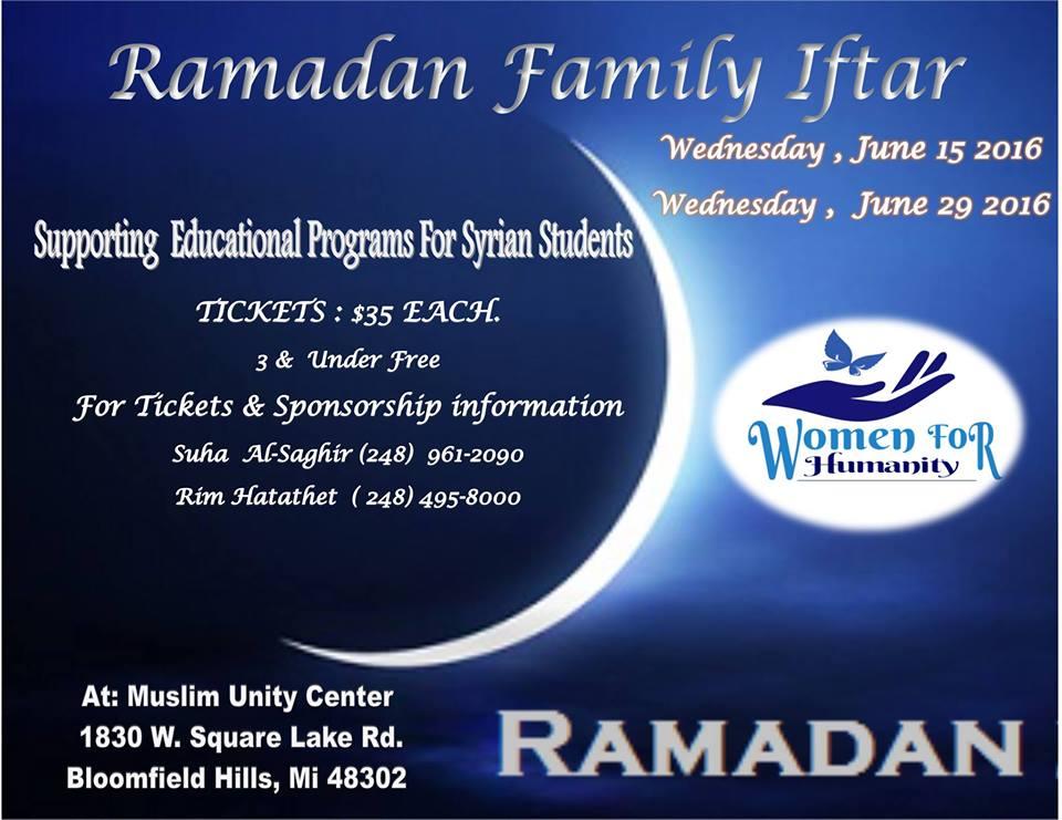 Ramadan Family Iftars