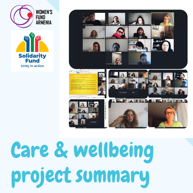 Summary of self-care and wellbeing project