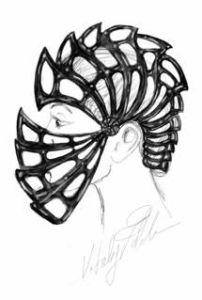 Fig. 2. Ashur Helmet (original sketch)
