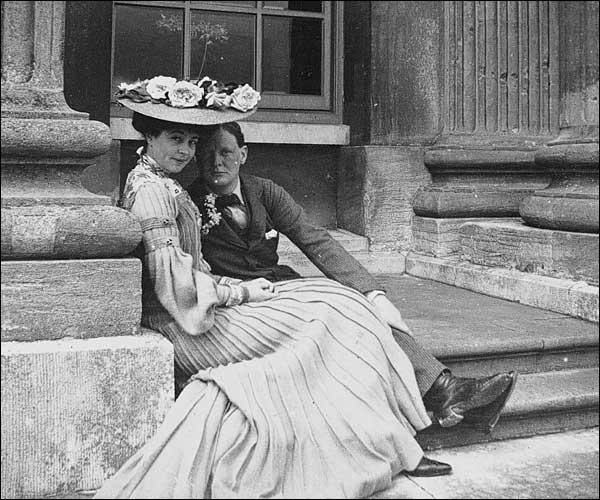 Consuelo z Winstonom Churchillom v Bleinhemski palači