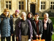 Members of the WIGS committee and local organiser, Henrike Lähnemann (University of Oxford), at St Edmund Hall, Oxford.