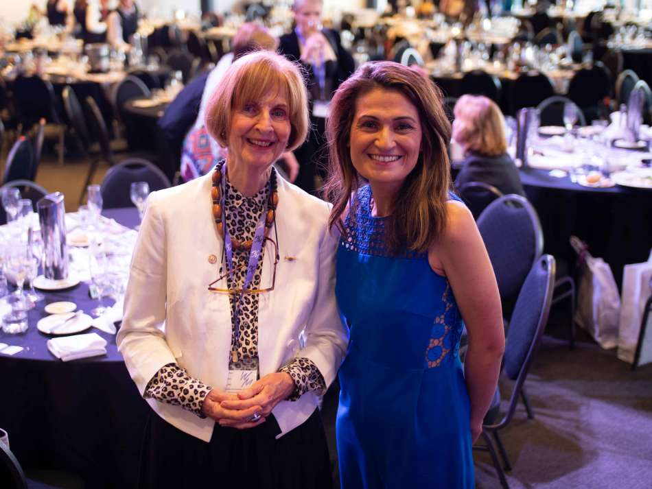 Caroline Jones and Patricia Karvelas at the Saturday lunch, Photo: Monique Grisanti | Uneek Creative