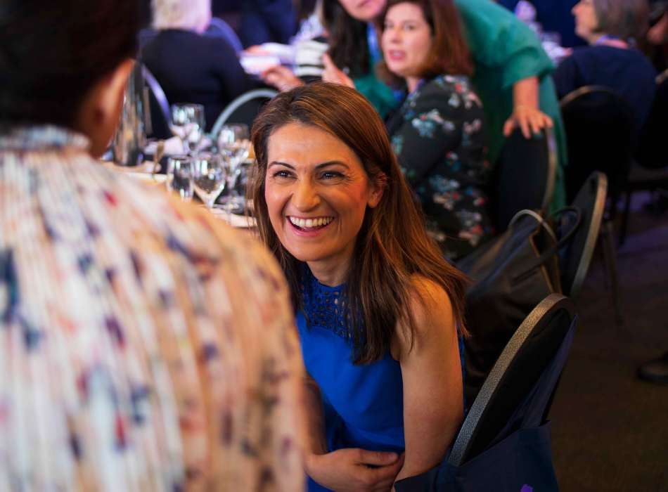 Patricia Karvelas chats to delegates. Photo: Monique Grisanti | Uneek Creative