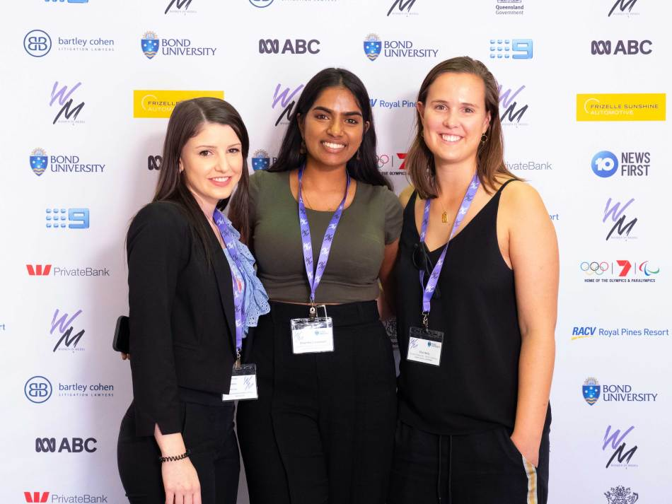 This trio are part of the conference family, working in Bond University