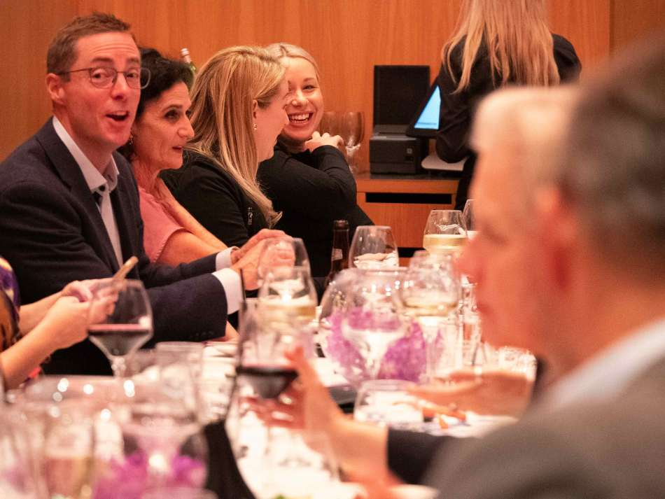 Great food and conversation at RACV Royal Pines Resort. Photo: Monique Grisanti | Uneek Creative