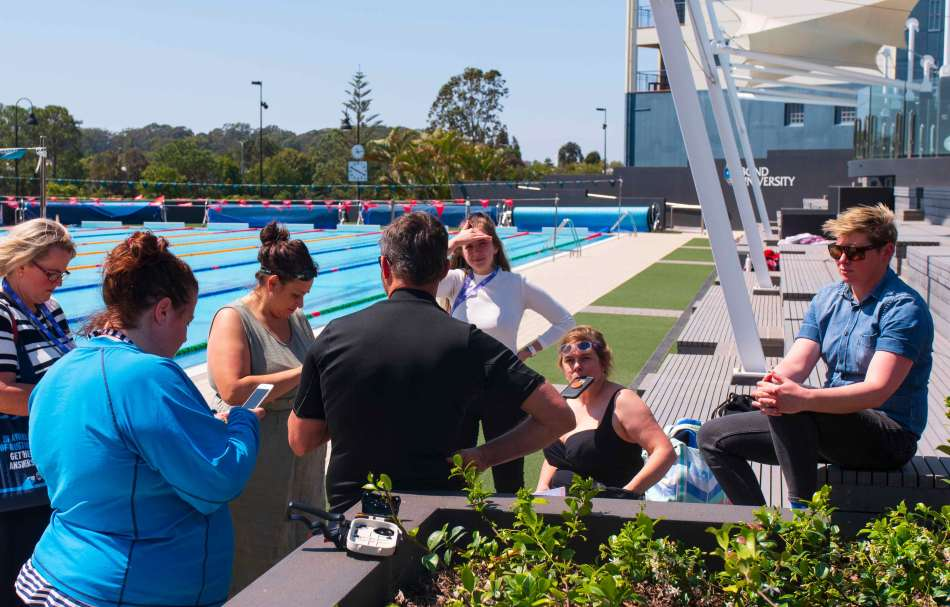 We took delegates to the pool for the first time when Rob Layton who run an underwater photography workshop. Photo: Monique Grisanti | Uneek Creative