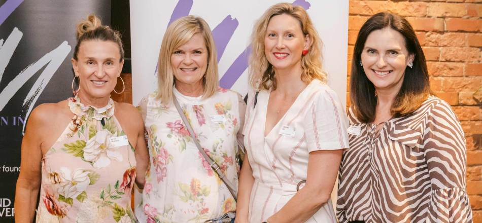 Karryn Wheelans from 4BC, RBWH Foundation's Dana Lang, Griffith University's Christen Hill, and Michelle Cull from Urban Utilities.