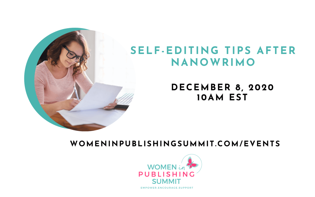 Self-Editing Tips After NaNoWriMo