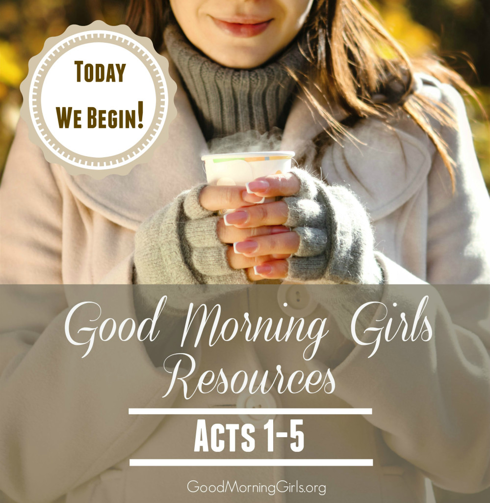 Today We Begin! Resources for Acts 1-5