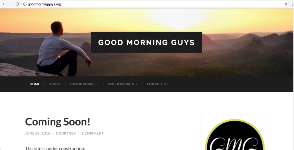 GoodMorningGuys.org screenshot