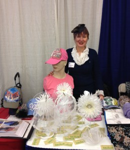 2014 Bridgeport Biz Expo. New bridal line whose edges are finishing by wome in recovery.