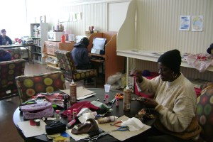 Crafting with homeless women is helping to forget and refocus.
