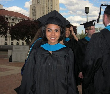 Richa the proud graduate!