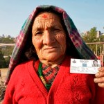 Elder Nepal woman voter