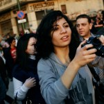 Women protesters on streets of Cairo