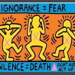 Keith Haring AIDS poster / Ignorance=Fear
