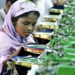 Woman working in Bangladesh factory