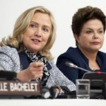 Hillary Clinton and Dilma Rousseff at UN Gneral Assembly