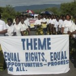 Zambian women march with equal rights sigan