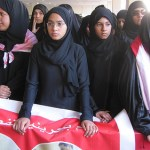 Bahrain women protesters February 19, 2011